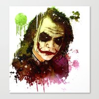 joker Canvas Prints featuring Joker by Sirenphotos