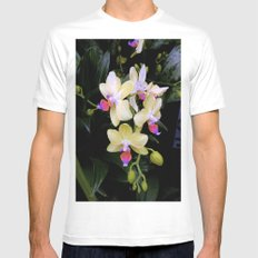 Yellow Orchids Mens Fitted Tee White MEDIUM