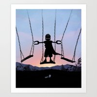 magneto Art Prints featuring Magneto Kid by Andy Fairhurst Art