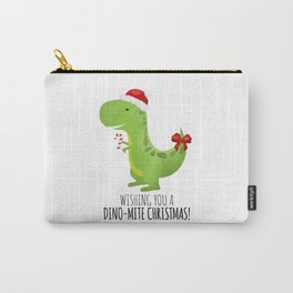 Wishing You A Dino-Mite Christmas Carry-All Pouch