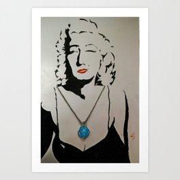 silhouette art Art Print