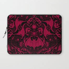 Bats and Beasts - Blood Red Laptop Sleeve