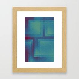 Retro surf pattern Framed Art Print
