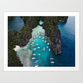 Island hopping in the Philippines Art Print