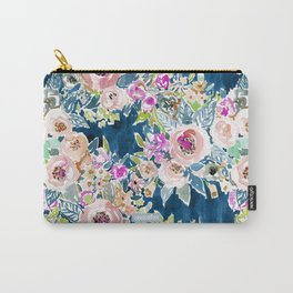 NAVY SO LUSCIOUS Colorful Watercolor Floral Tasche