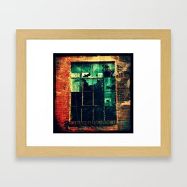 Vacancy, Broken Windows  Framed Art Print