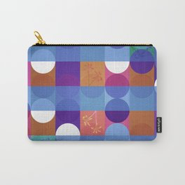 Game of circles with flowers Carry-All Pouch