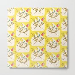 Flowers in Envelope Metal Print