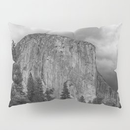 Yosemite National Park, El Capitan, Black and White Photography, Outdoors, Landscape, National Parks Pillow Sham
