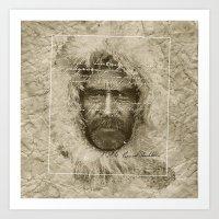 Ernest Shackleton Fake Robert E.Peary (Spanish Version) Art Print
