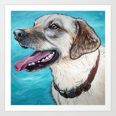 Yellow Lab Brody Art Print