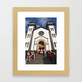 Church in Furnas Framed Art Print
