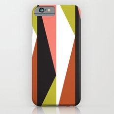 Pink, lime black triangle pattern (2015) Slim Case iPhone 6s
