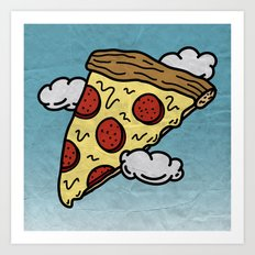Floating Pizza Art Print