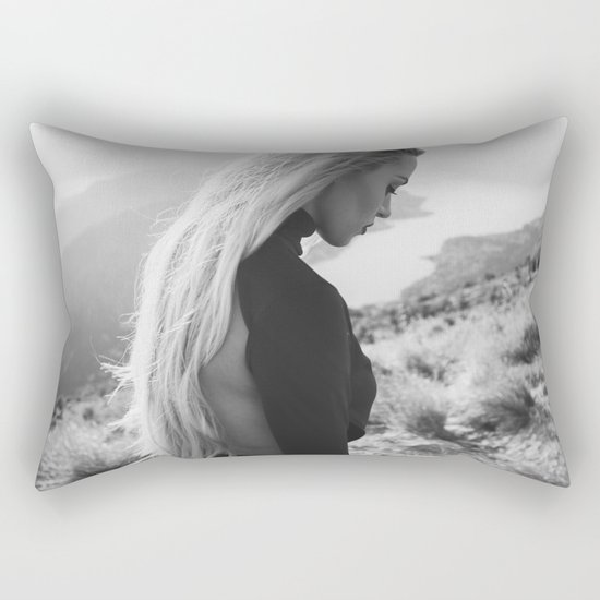 Black queen Rectangular Pillow