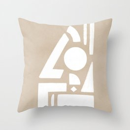 The barrier, duotone artwork Throw Pillow
