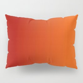Ombre in Red Orange Pillow Sham
