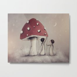 Decorating Toadstools Metal Print