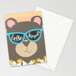 Hello Summer Bear Stationery Cards