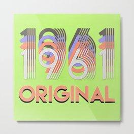 1961 Original in Lime Metal Print