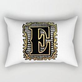 Monogram Initial Letter 'E' Rectangular Pillow
