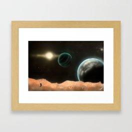 A Frontier Conquered Framed Art Print