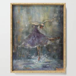 Dancing in the rain Serving Tray