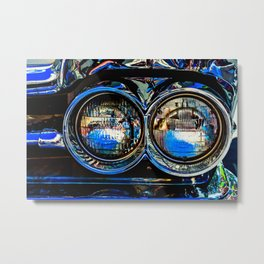 Double Headlights Color Metal Print