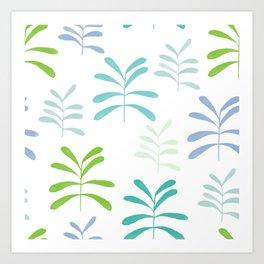 Bromeliads - sea glass Art Print