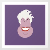 ursula Art Prints featuring Ursula by TheVillains