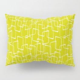 Lime Green Retro Geometric Pattern Pillow Sham