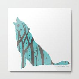 Wolf Silhouette Metal Print