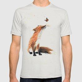 Monarch Fox - animal watercolor painting T-shirt