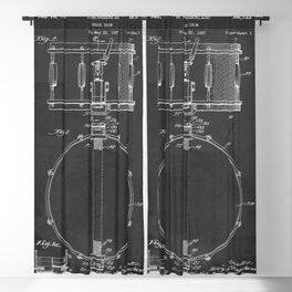 Snare Drum Vintage Patent 1939 Drummer Blackout Curtain