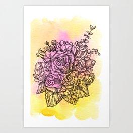Plant Series: Roses Art Print
