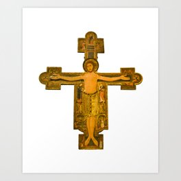 Medieval Style Jesus Christ on Cross Art Print