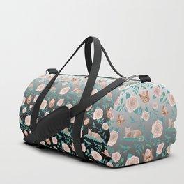 Queen cats on metallic backdrop Duffle Bag