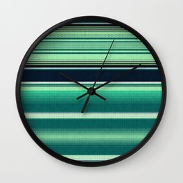 Mexican serape #2 Wall Clock