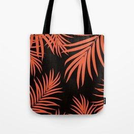 Palm Leaves Pattern Orange Vibes #1 #tropical #decor #art #society6 Tote Bag
