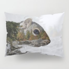Waterfall Squirrel Pillow Sham