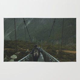 Hiking around the Mountains & Valleys of New Zealand Rug