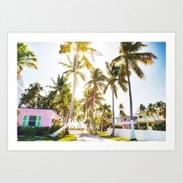 key west village Art Print