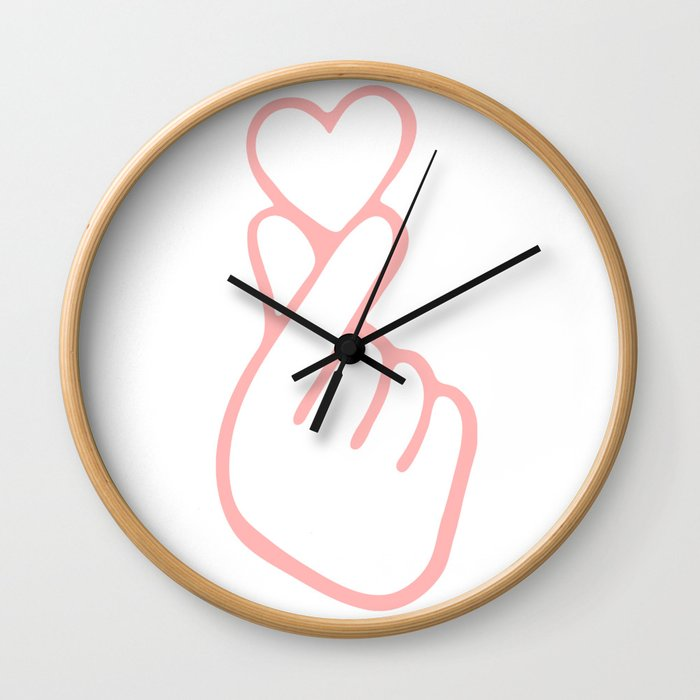 HEART HAND Wall Clock
