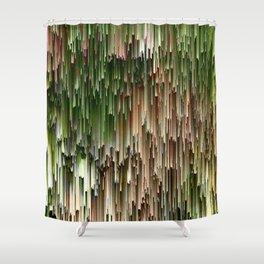 Ever Green Cascade Abstract Shower Curtain
