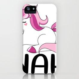 Cool Funny Nah Unicorn Graphic Men Women T Shirt Novelty Fantasy Magical Unicorns Tee Shirt Gift iPhone Case