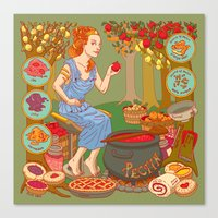 westeros Canvas Prints featuring Jamming with Pectin by Julia Minamata