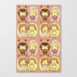 quirky seasons pattern Canvas Print