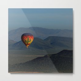 Hot Air Balloon over Arizona Morning Metal Print