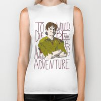 robin williams Biker Tanks featuring Robin Williams Hook Peter Pan Quote  by kdwdesigns
