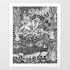Mind Control Pizza Gypsies  Art Print